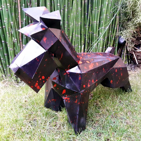 Assemble ta propre sculpture en papier de chien Schnauzer -Personnaliser la Sculpture