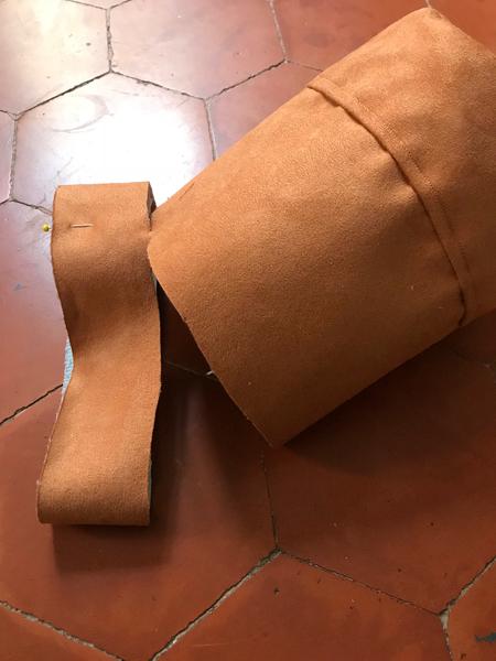 It Bag de l'été 2019 - le sac à anses rigides-Doublure et réalisation des attaches pour les anses