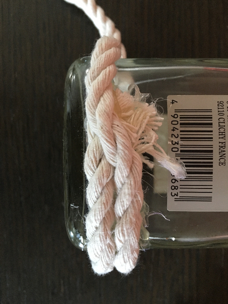 Vase en corde avec une bouteille -Démarrer par le bas de la bouteille