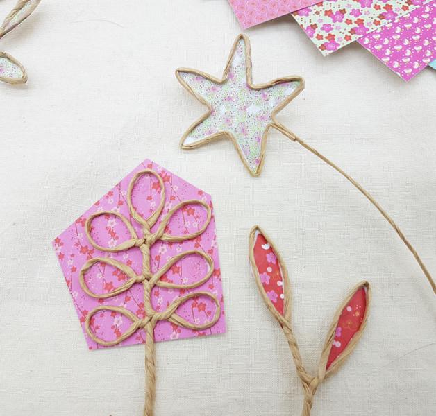 Trio de soliflores fleuris-Le collage