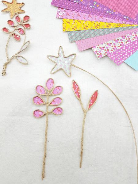 Trio de soliflores fleuris-L'assemblage