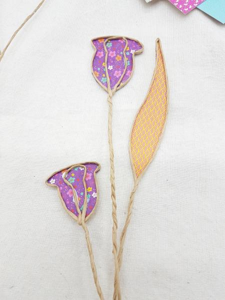 Trio de soliflores fleuris-Les fleurs