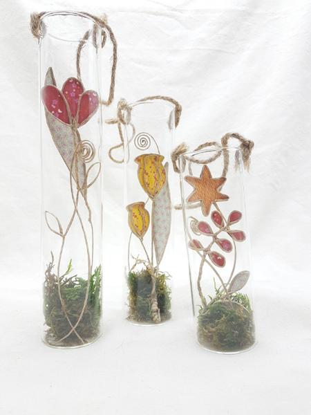 Trio de soliflores fleuris-Mise en beauté des soliflores