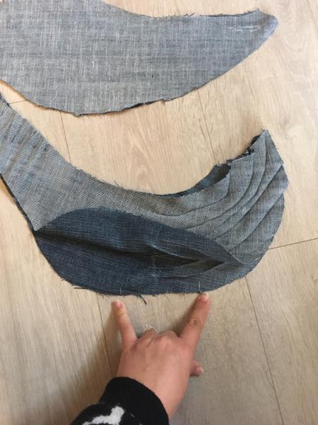 Baleine en Jeans Upcyclé-Assembler la baleine