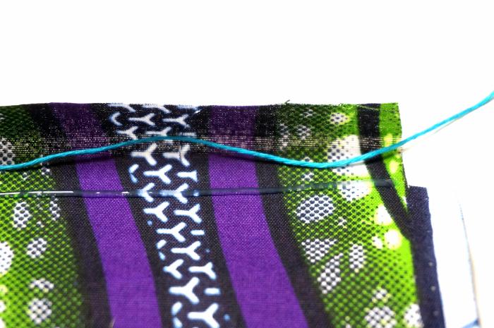 Pochette à lien coulissant - zéro couture-Réalisation de la pochette
