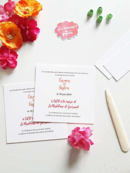 Faire-part de mariage aux Couleurs du Mexique !-Le texte