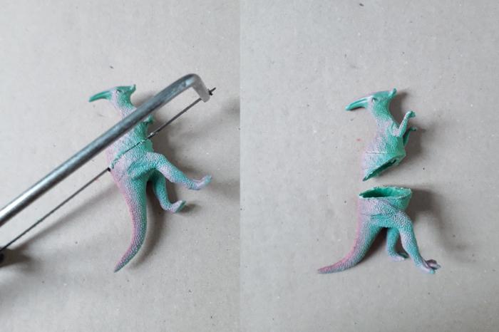 La coupelle dinosaure-Découpe du dinosaure