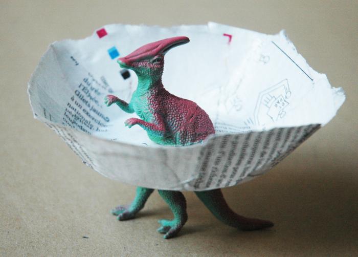 La coupelle dinosaure-Montage final
