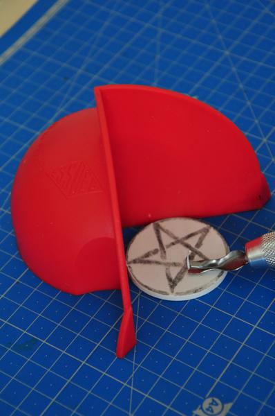 Tampon pentagramme (pic et pic et colegram)-La gravure