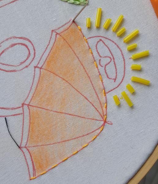 Tuto Broderie estivale pour débutant-Parasol brodé