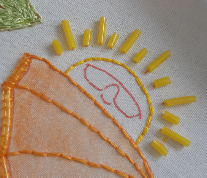 Tuto Broderie estivale pour débutant-Broder le soleil