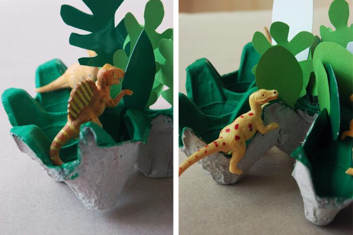 """La coupelle """"jungle"""" faite en boîte d'oeufs-Tadaaam..."""