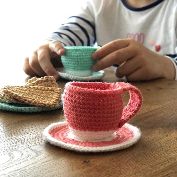 Tasse pour dînette au crochet-La tasse