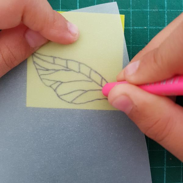 Graver un tampon Feuille de Thé (pour enfant dès 8 ans et adultes)-Transférer le motif sur la gomme