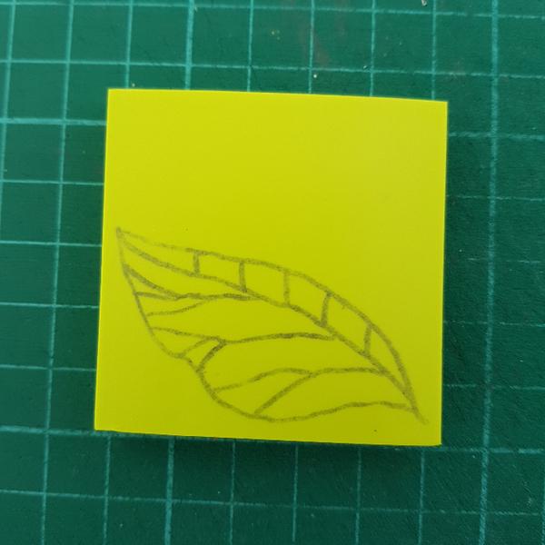 Graver un tampon Feuille de Thé (pour enfant dès 8 ans et adultes)-Recouper le morceau de gomme (facultatif)