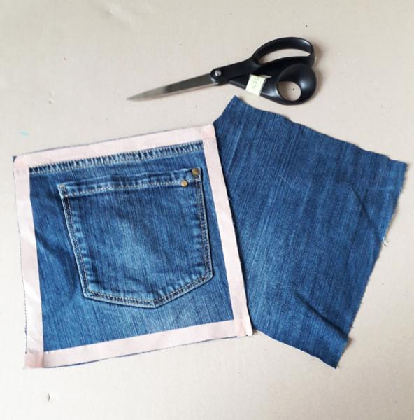 Le set de pique-nique -La découpe du jean
