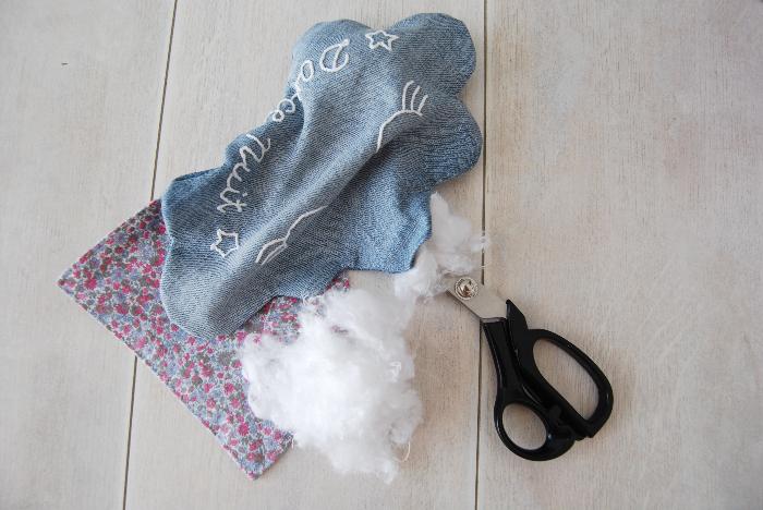 Comment coudre un doudou nuage brodé à la main et son pochon-Couture du nuage