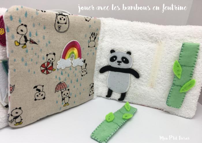 Livre d'éveil trop chou pour les tout petits ♥-Page avec les bambous repositionnables