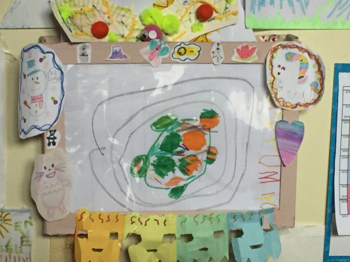 Cadre pour dessins d'enfants-Etape finale