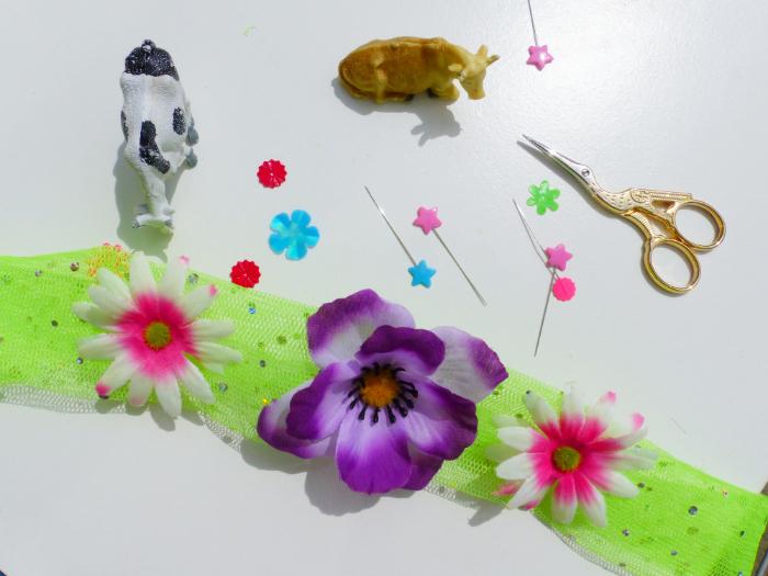 Le chapeau Made in Normandie-Placez les fleurs