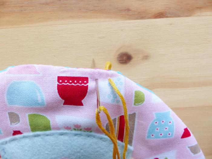 Dessous de théière et tasses-Tour au crochet #1