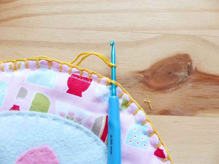 Dessous de théière et tasses-Tour au crochet #5