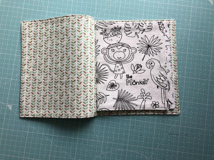 Livre à colorier lavable -Couture du livre
