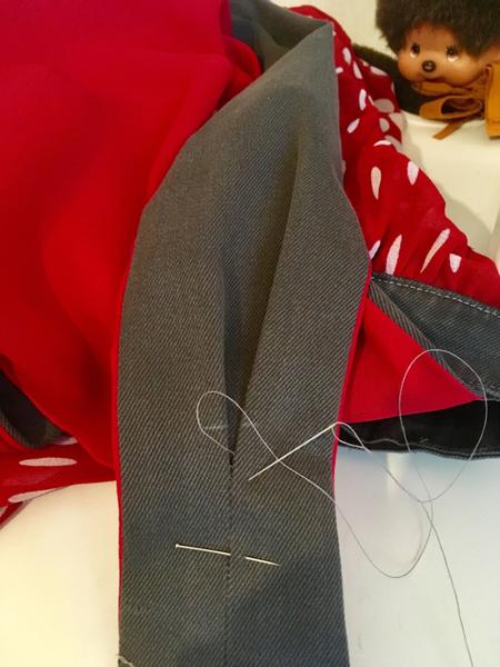 Jupe Salopette Style Flamenco -4. Assemblage des bretelles à la jupe