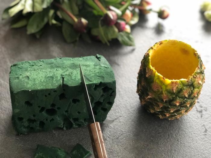 Composition florale aux saveurs de fruits -Découper et assembler
