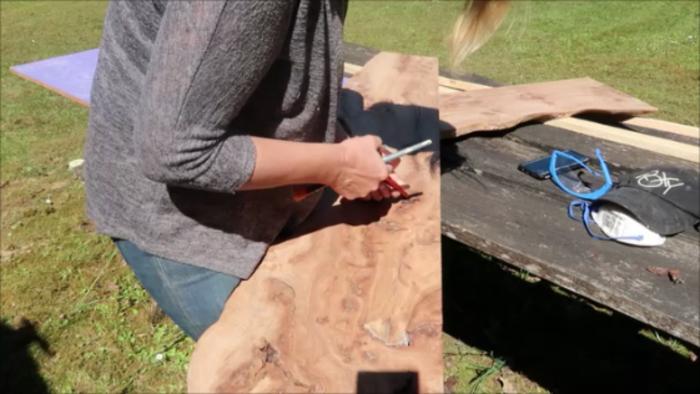 River Table Fire lave incandescente epoxy Art-Nettoyez les planches d'ormes
