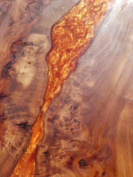 River Table Fire lave incandescente epoxy Art-Protéger le bois