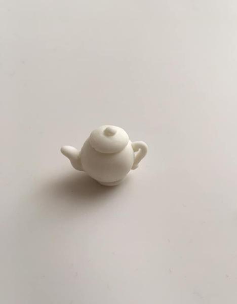 Boucles d'oreille style porcelaine chinoise-Modeler la théière