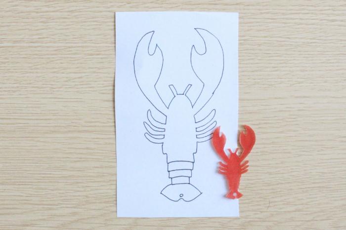 Boucles d'oreilles homard en plastique fou-Cuisson du plastique fou