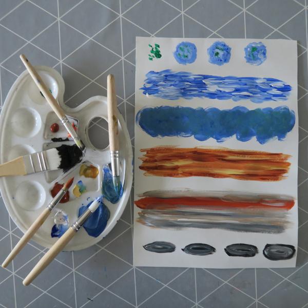 Invitations d'anniversaire thème espace-La peinture des planètes