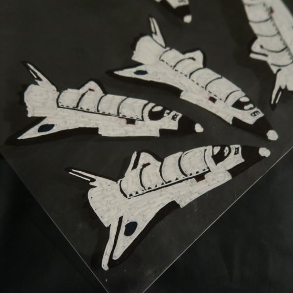 Invitations d'anniversaire thème espace-La navette