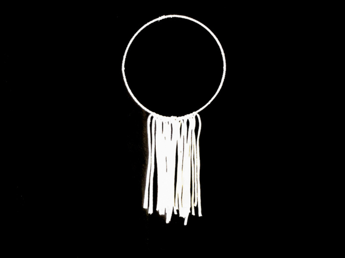 Cercle décoratif végétal-La décoration en trapilho