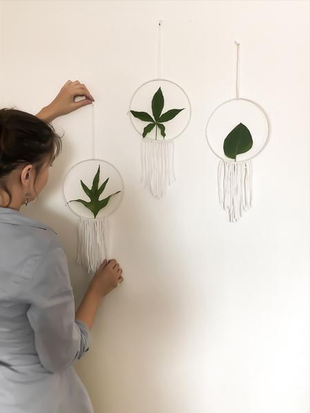Cercle décoratif végétal-Et voilà le résultat !