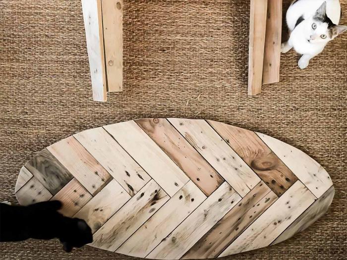 Une table basse en palette-L'assemblage final