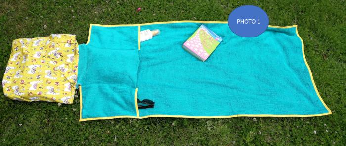 Le Sac de Plage tout en un-Votre sac de plage tout en un est prêt !