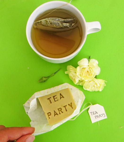 Savon au thé vert !-Emballer vos savons pour plus de surprise