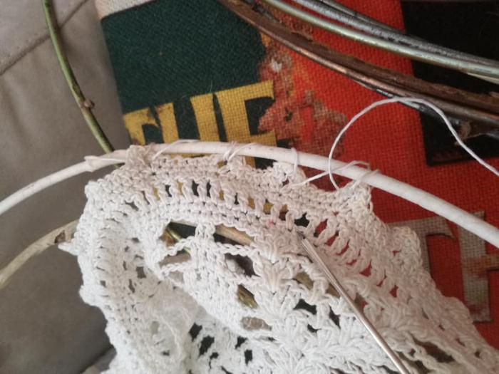 L'attrape-rêves des anges-Tisser le fil de coton