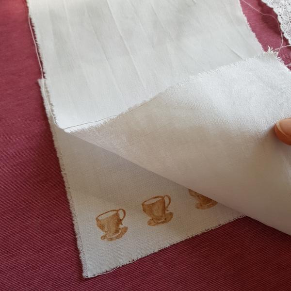 Décorer du tissu tamponné à l'encre de thé-Fixer les motifs