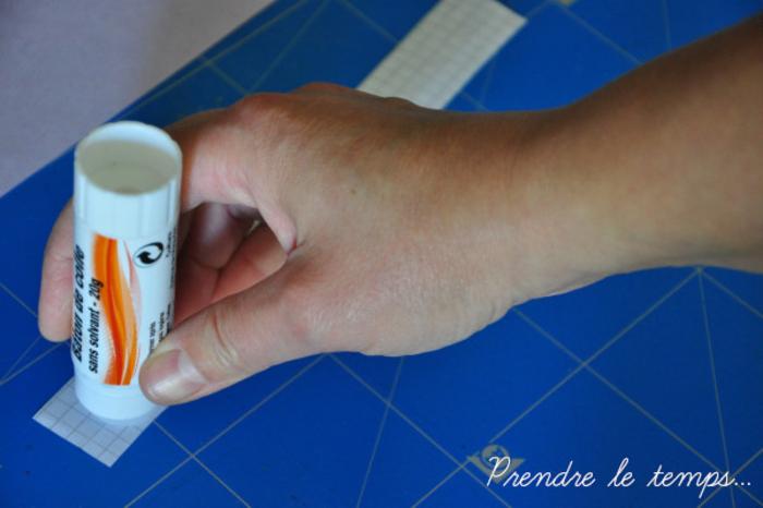 Grimoire de sorts et incantations (qui sent le café) [reliure japonaise]-Préparation du motif de reliure