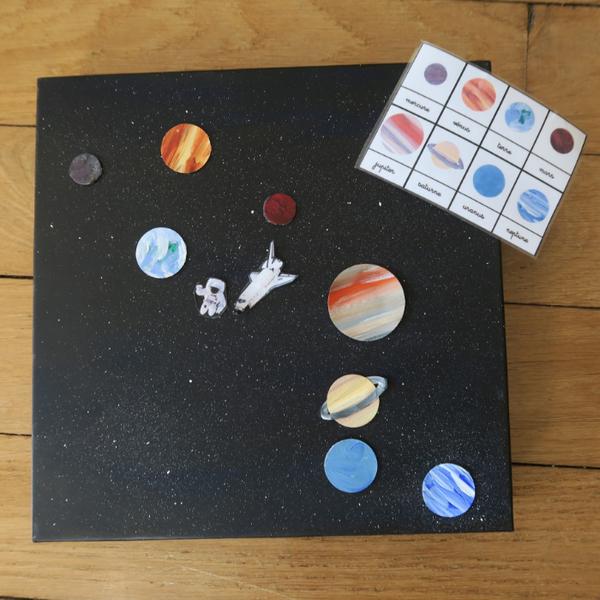Jeu des planètes aimantées-Le rendu final