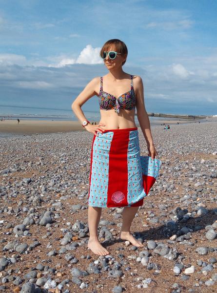 DiY : Jupe de Plage Made in Normandie-Portez votre jupe plage au bord de mer