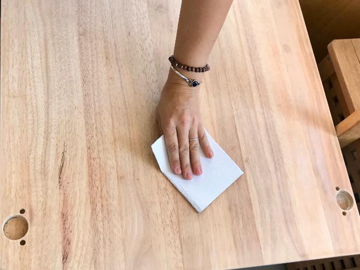 Fabriquez votre Pegboard Lettres-Préparation de la planche