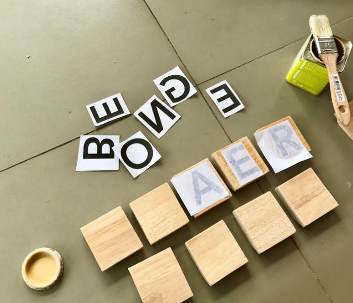 Fabriquez votre Pegboard Lettres-Transfert des lettres sur bois