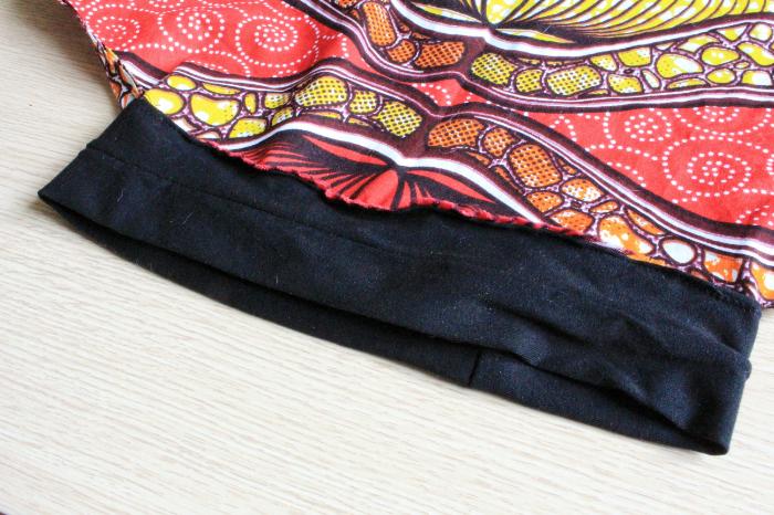 Turban en wax facile à nouer-Fixation du bandeau