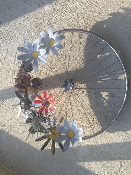 Roue de vélo fleurie-Etape finale