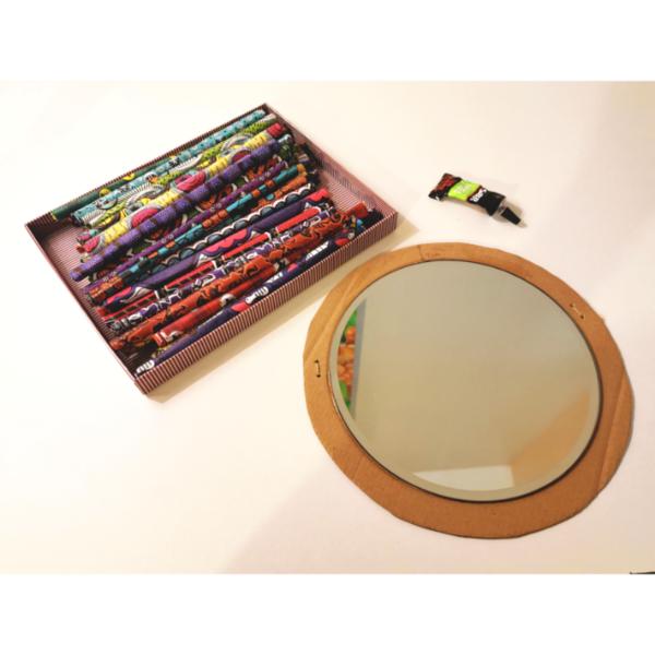 Miroir Soleil en Wax-Le montage :